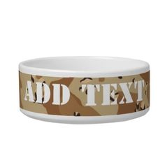 Desert Camouflage (1) Pet Bowl by #Camouflage4you shipping to New Orleans, LA - #camo #camouflage #military