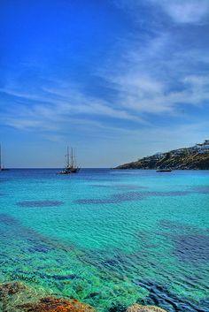 Psarou Sea, Mykonos, Cyclades, Greece ✯ ωнιмѕу ѕαη∂у