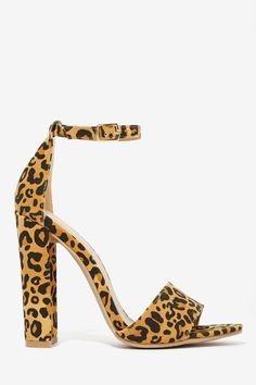 Nasty Gal Gimme Love Heel - Leopard | Shop Valentine's Day Shop at Nasty Gal