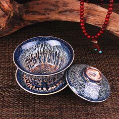 Handmade Chinese Porcelain Gaiwan Tea Cup by ChineseTeaCeremony - #Handmade