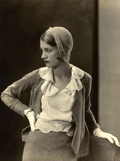 Lee Miller in her days as a fashion model.