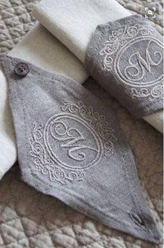 Servilleteros bordados de lino en diferentes colores para cualquier ocasión visitanos