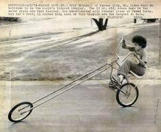 """Dream Big Kid - no motor, but still an awesome, """"old school"""" chopper!"""
