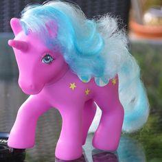 Vintage My Little Pony 'Beach Ball' Purple Unicorn Sunshine Collection -1985 - G1 - MLP - Rare - 80s - Hasbro Twice As Fancy