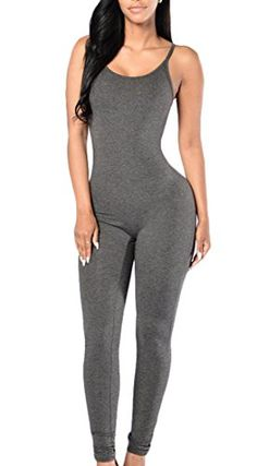 c4e54bbbebc Amazon.com  ARRIVE GUIDE Womens Fashion Summer Solid Strap Club Bodysuit  Jumpsuit  Clothing