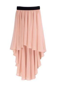Glamour Irregular Hem Elastic Waist Women's Chiffon SkirtSkirts   RoseGal.com