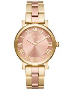 Michael Kors Women's Norie Two-Tone Stainless Steel Bracelet Watch 38mm MK3586