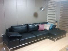 Max9005 - L-Shape Leather Sofa