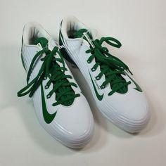 00172ec97c56 Nike Mens Metal Cleats BSBL Vapor Lunarlon Flywire Size 10.5 White Green # Nike #cleats