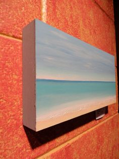 Peaceful Beach 12x6x1 1/2 original oil painting by by kamtheartist, new office art?