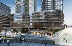 """Adding to the growing trend of timber-framed architecture, Tzannes has released plans for International House Sydney, the """"first modern commercial..."""