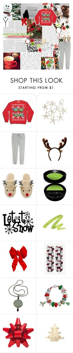 """""""☾ merry christmas!!"""" by thundxrstorms ❤ liked on Polyvore featuring Madewell, Giorgio Armani, Urban Decay, Dolce&Gabbana, Monki, Bling Jewelry, Martha Stewart and CO"""