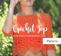 Free Crochet Patterns: Crochet Blouse Free Pattern                                                                                                                                                                                 More