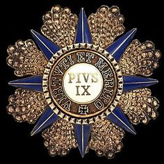 Grand Cross: Star Vatican Order of Pius