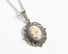 Mini Cameo Necklace by CissyPixie on Etsy