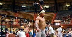 Paul Smith's 4:01 a #CrossFit World Record (yikes, that's 10 one-arm dumbbell snatches at 100 (!!!) pounds, whoah!)