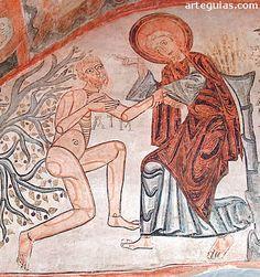 Pintura Románica: frescos de la Vera Cruz de Maderuelo Medieval, Christ, Carolingian, Romanesque, Tatt, Art History, Graffiti, Princess Zelda, Interiors