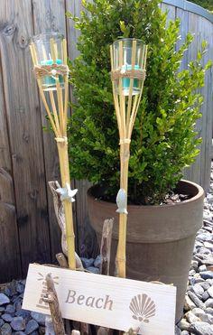 mach es aus Bambus und einem alten Glaß