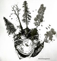 THEIR FATE IS #InYourPalm The survival of the Orangutans and our Rainforests depend on the actions of the Palm Oil industry AND its global Consumers (us).   This beautiful artwork created by a young artist in Europe, is dedicated to the countless ancient trees that have been felled, and to the millions of Orangutans and other animals that have been killed, displaced, injured and orphaned in Indonesia as a result of #deforestation for #ConflictPalmOil.  #CutConflictPalmOil…