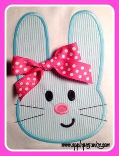 Easy Bunny Applique Design www.appliquejunkie.com