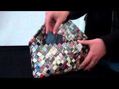 Candy Wrapper Bag Candy Wrapper Purse, Candy Wrappers, Candy Bags, Recycled Plastic Bags, Plastic Grocery Bags, Diy Handbag, Diy Purse, Fun Diy Crafts, Crafts To Make