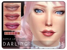 The Sims Resource: Darling – Supple Lip Colour by Screaming Mustard • Sims 4 Downloads