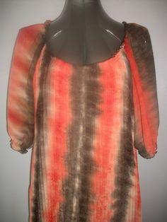 Unique Tie-Dye Colorblock Dress - Accordion Pleat Fabric - Sz M http://stores.ebay.com/Classy-Fashions-and-Accessories?_trksid=p4340.l2563