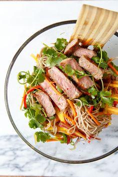 Asian Noodle Steak Salad recipe