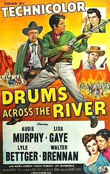 1954 ♦ Drums Across the River Kingston, Old Film Posters, Virginia, Old Western Movies, Movie Covers, Cult Movies, A Star Is Born, Universal Pictures, Classic Movies