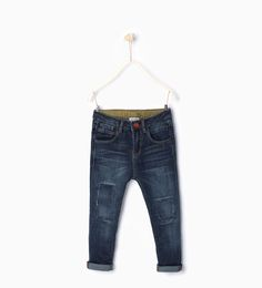 ZARA - KIDS - Slim-fit jeans with patches