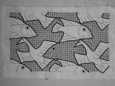 www.flickr.com, Blackwork - M.C. Escher design