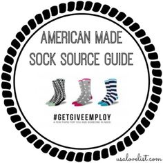 The ultimate guide to made in USA socks for kids, men and women. Want free American made socks? Don't miss the freebie offer in here! http://www.usalovelist.com/made-in-usa-socks-our-top-ten-source-list/?utm_campaign=coschedule&utm_source=pinterest&utm_medium=USA%20Love%20List%20(USALoveList.com%20VIP's)&utm_content=Made%20in%20USA%20Socks%20-%20Our%20Top%20Ten%20Source%20List%20