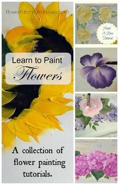 How to paint flowers one stroke at a time, easy enough for beginners and fun for everyone! Free tutorials.