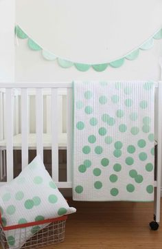 V and Co — Baby Ombre Dots PDF- Quilt, Pillow, Banner