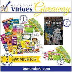 We Choose Virtues Giveaway at Schoolhouse Review Crew  This would be a blessing for any family! Go check it out!