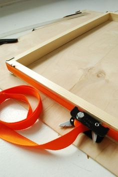 How to Build a Custom DIY Floating Frame for Artwork — Apartment Therapy Tutorials - use a band clamp (shown in photo)works great to secure frame while wood glue dries. Band clamp is good to have if you plan to make more frames. Floating Shelves Bedroom, Reclaimed Wood Floating Shelves, Floating Shelves Kitchen, Wooden Floating Shelves, Floating Frame, Apartment Therapy, Cadre Diy, Cube Storage Shelves, Shoe Storage