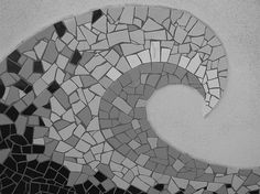 Mosaic Wave on Wilshire Blvd in Santa Monica, CA Awesome Mosaic! you will love this Mosaic sit
