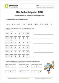 neu deutsch abc 6 kleine bungen zur bearbeitung von vorg nger und nachfolger im alphabet. Black Bedroom Furniture Sets. Home Design Ideas