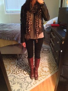 Cheetah black and brown fall outfit