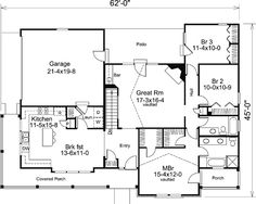 Bungalow Country Craftsman Ranch Level One of Plan 87811