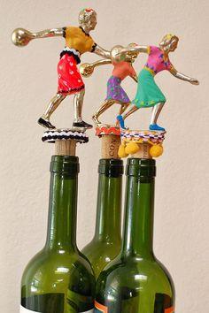 DIY - Bowling Trophy Wine Bottle Toppers