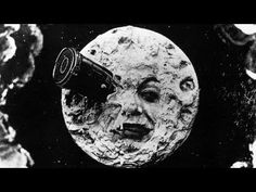 "From the 1902 French silent film ""Le Voyage dans la Lune"" (A Trip to the Moon) directed by Georges Melies — It is considered the first science fiction film. Science Fiction, Fiction Movies, Sci Fi Movies, Jules Verne, Hugo Cabret, Oldschool, Silent Film, Classic Films, Art History"