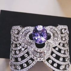 #bracelet by @louisvuitton from the Blossom Collection in #whitegold set with a 9.45-carat #lavender #spinel and 16.84 carats of #diamonds #highjewellery #hautejoaillerie #jewelry #jewellery #luxury