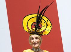 Royal Ascot 2013 - Florence Claridge's topper definitely had us, ahem, buzzing about the fact that its black-and-yellow design had her looking a bit like a bee!