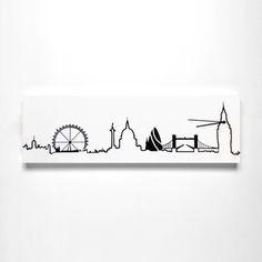 London Skyline White clock now featured on Fab. London Sketch, London Tattoo, White Clocks, London Skyline, Piercing Tattoo, Piercings, Cute Tattoos, Tatoos, Dream Art