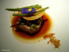 Veal in Michelin Restaurant Eskis in Lyon France