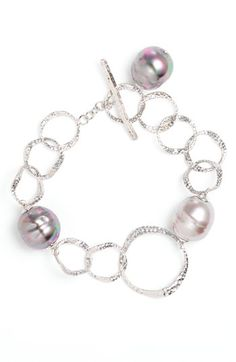 Majorica 14mm Baroque Pearl Toggle Bracelet