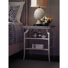 Light and airy, the Saybrook Lamp Table in subdued, hand-crafted finishes is delicate and reserved. | Stanley Furniture