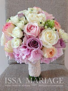 Buchet de mireasa roz pal