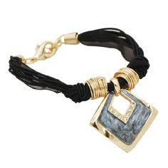 Mystic light blue pendant that is selectively outlined with crystal that seductively dangles from multiple black leather-like strings. Blue Necklace, Mystic, Jewelry Sets, Dangles, Light Blue, Black Leather, Crystals, Pendant, Bracelets